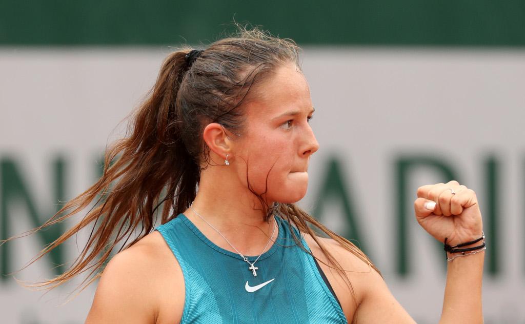 Daria Kasatkina celebrates