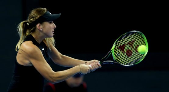 Belinda Bencic in action