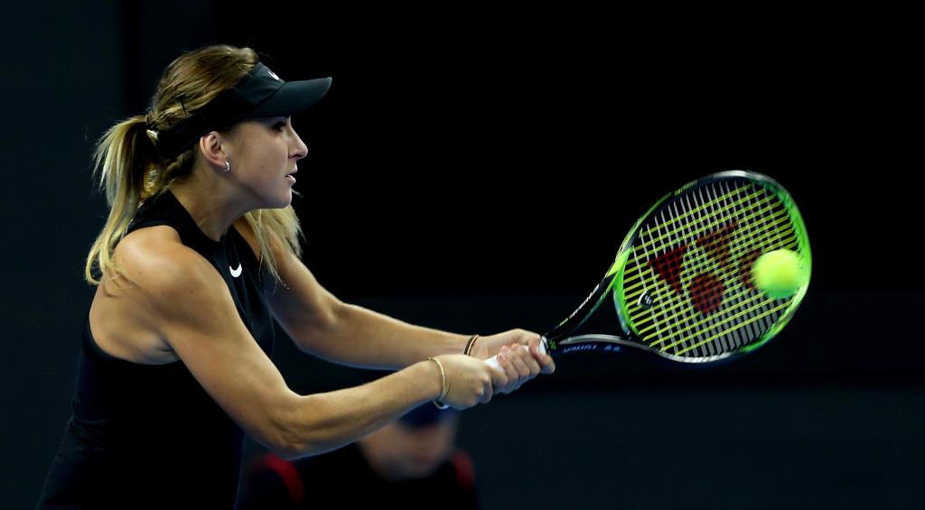 Belinda Bencic in action