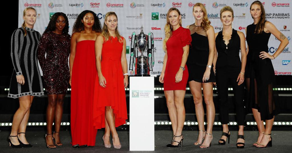 Kiki Bertens Sloane Stephens NaomiOsaka Angelique Kerber Caroline Wozniacki Petra Kvitova Elina Svitolina Karolina Pliskova WTA Finals
