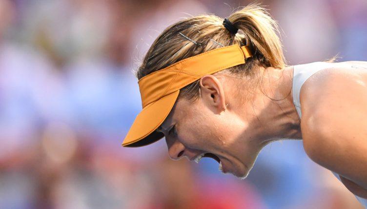 Maria Sharapova screaming