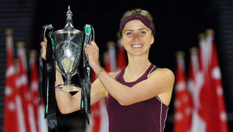 Elina Svitolina with WTA Finals trophy