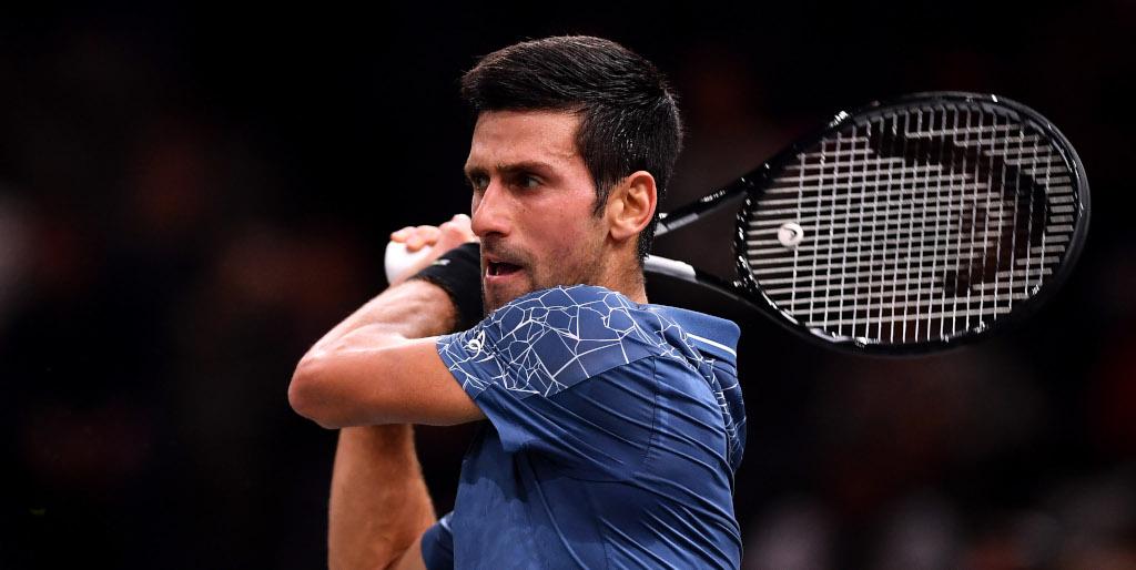 Novak Djokovic playing a shot