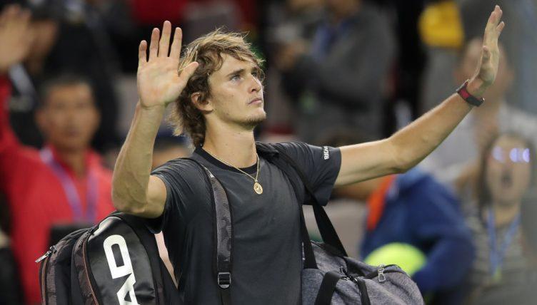 Alexander Zverev waving