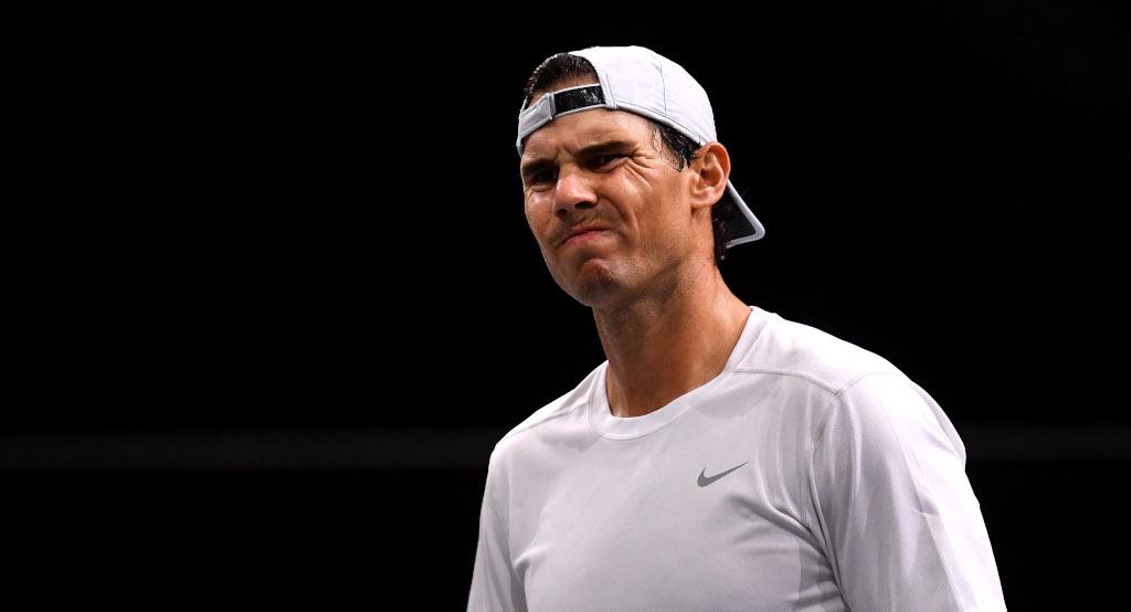 Rafael Nadal grimace