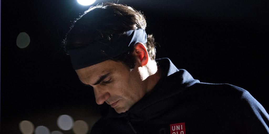Roger Federer at Paris Masters