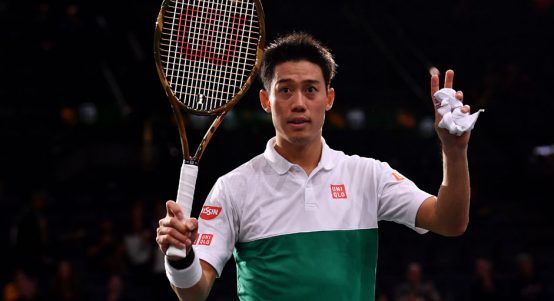 Kei Nishikori at Paris Masters