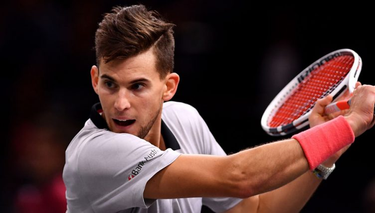 Dominic Thiem at the Paris Masters