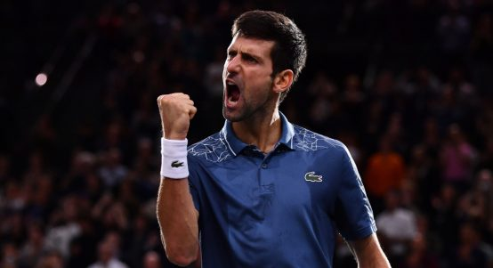 Nova Djokovic celebrating