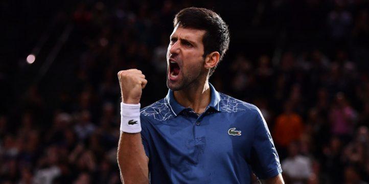 Nova Djokovic celebrating