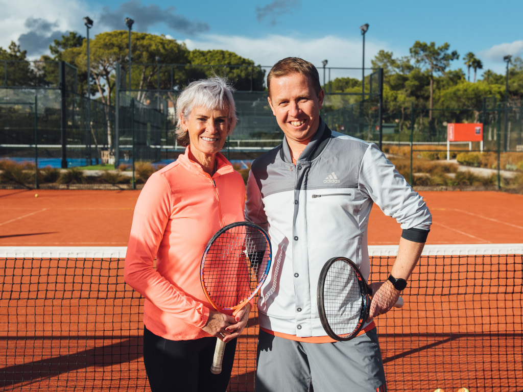 Judy Murray and Kevin Palmer at The Campus