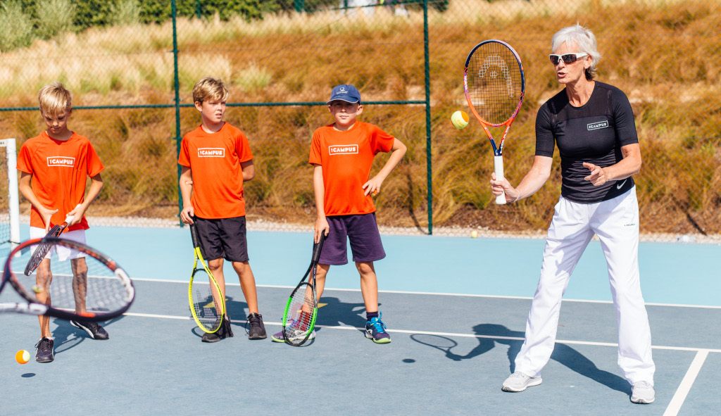 Judy Murray coaching at The Campus