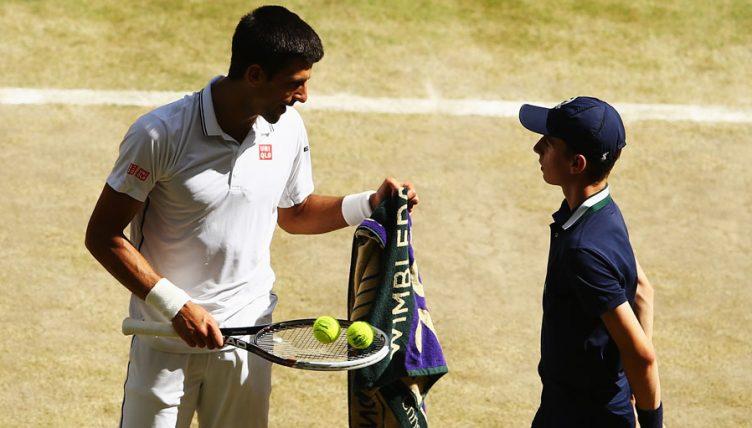 Novak Djokovic towel