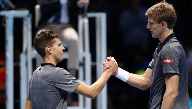 Kevin Anderson and Dominic Thiem at the ATP Finals