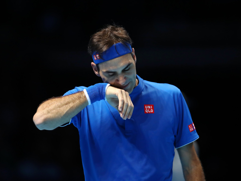 Roger Federer downcast