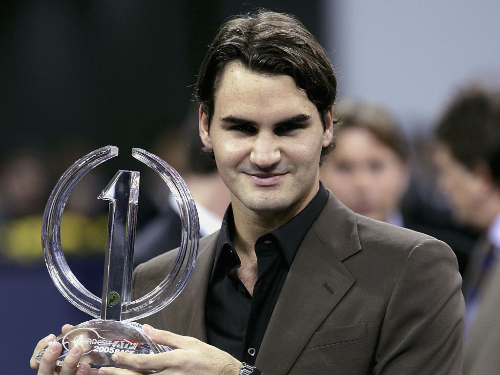 Roger Federer 2005 year-end No 1