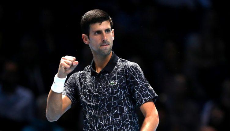 Novak Djokovic fist pump