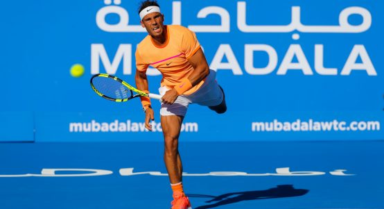 Rafael Nadal at Mubadala World Tennis Championship