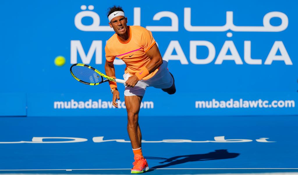 Rafael Nadal at Mubadala World Tennis Championship
