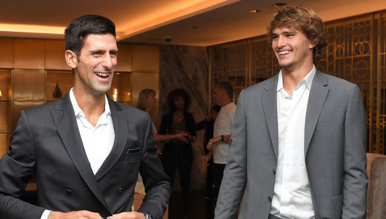 Alexander Zverev and Novak Djokovic