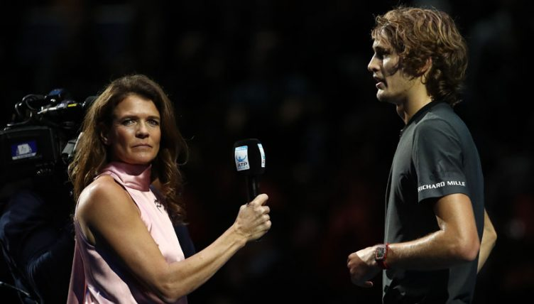 Alexander Zverev and Annabel Croft