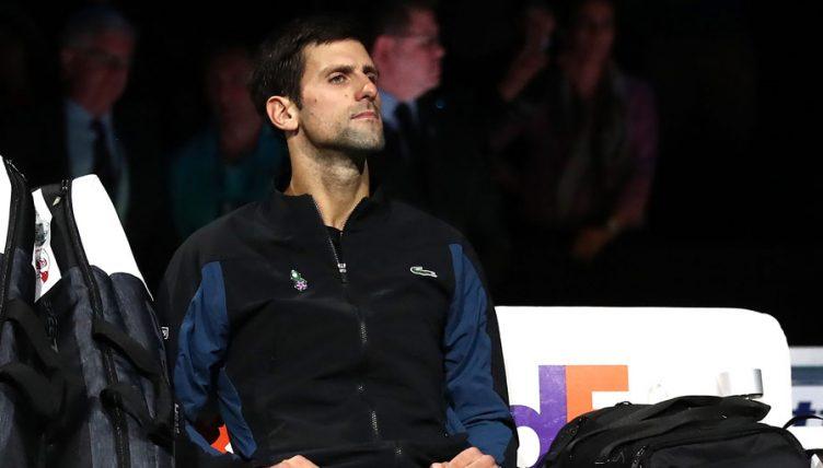 Novak Djokovic pensive