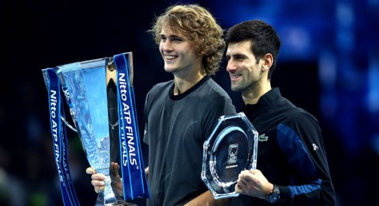 Novak Djokovic and Alexander Zverev at ATP Finals
