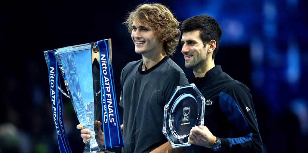 Novak Djokovic and Alexander Zverev at ATP Finals
