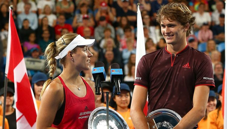 Alexander Zverev and Angelique Kerber