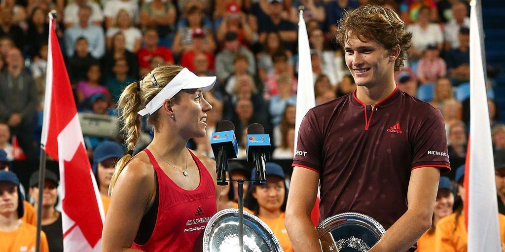 Alexander Zverev and Angelique Kerber