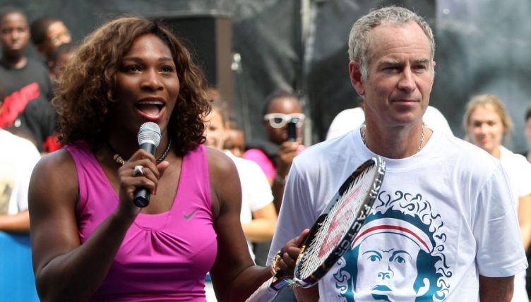 Serena Williams and John McEnroe