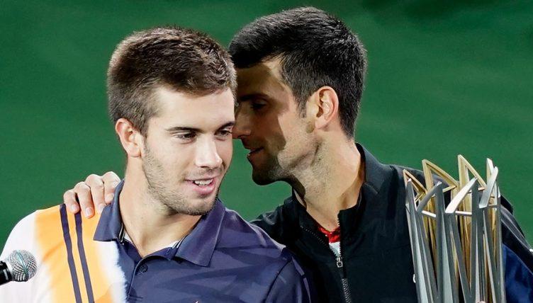 Borna Coric and Novak Djokovic