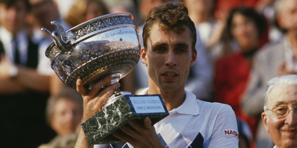 Ivan Lendl with trophy
