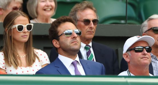 Justin Gimelstob in the stands