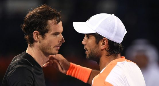 Andy Murray and Fernando Verdasco hugging