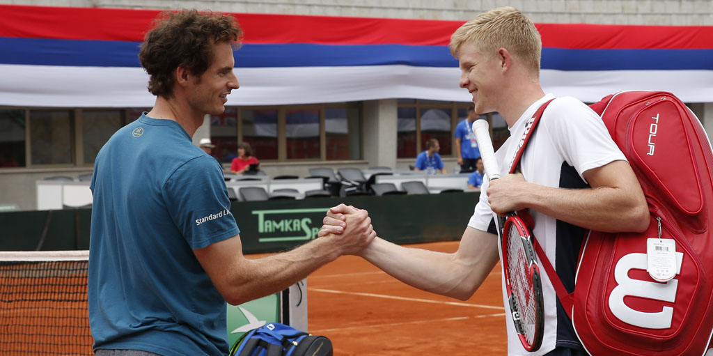 Kyle Edmund and Andy Murray