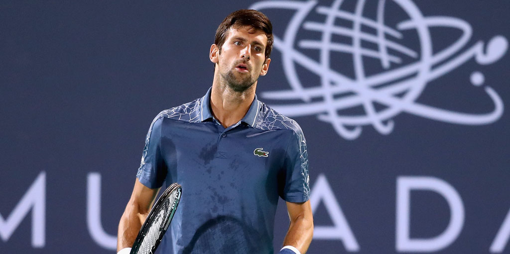 Novak Djokovic at Mubadala