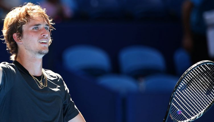 Alexander Zverev at the Hopman Cup