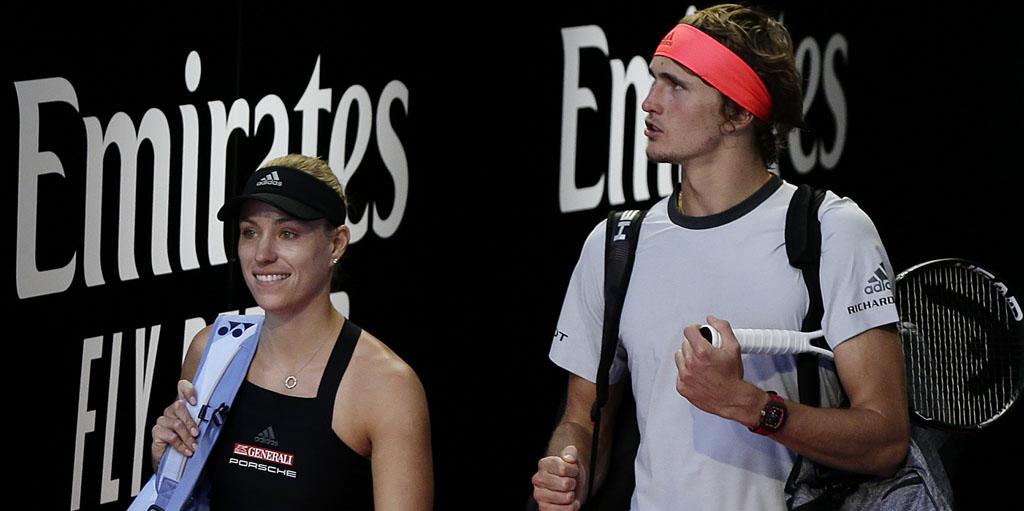 Alexander Zverev and Angelique Kerber at Hopman Cup