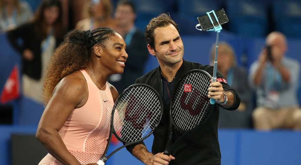 Serena Williams and Roger Federer selfie