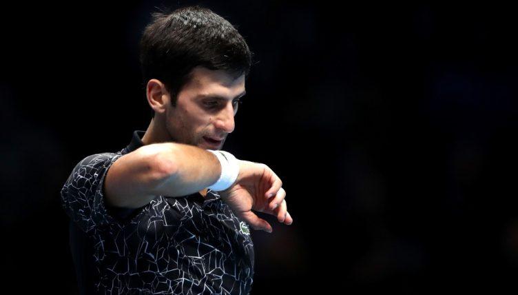 Novak Djokovic in action