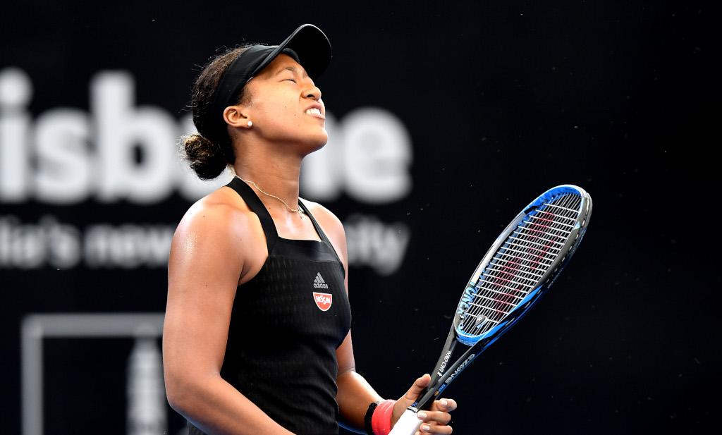 Naomi Osaka frustrated