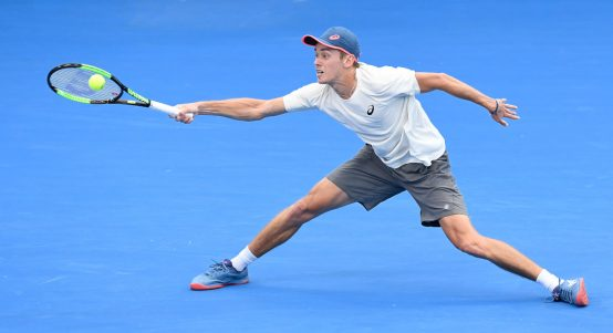 Alex de Minaur in action