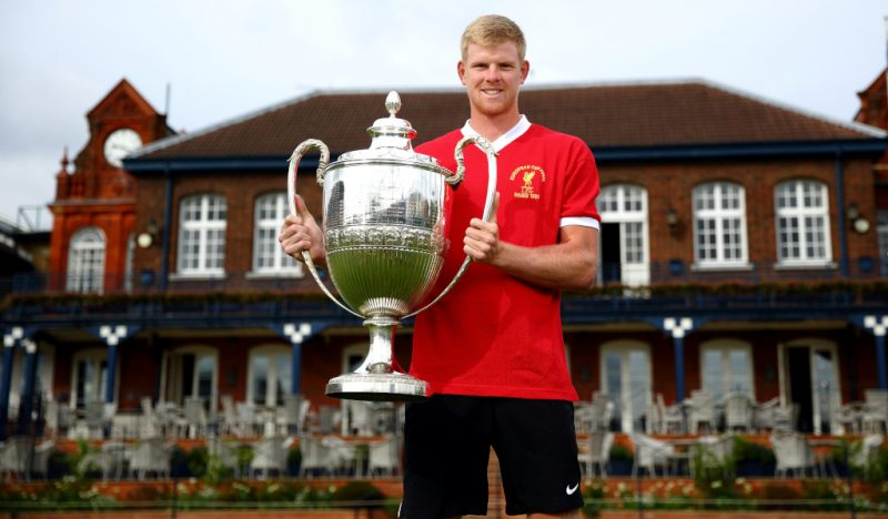 Kyle Edmund at the Fever-Tree Championships