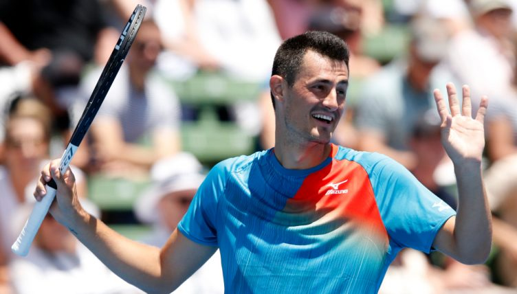 Bernard Tomic in action