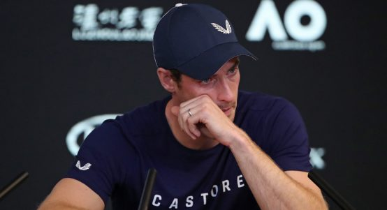 Andy Murray in tears