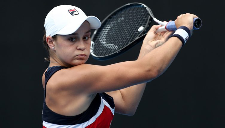 Ashleigh Barty at Sydney International