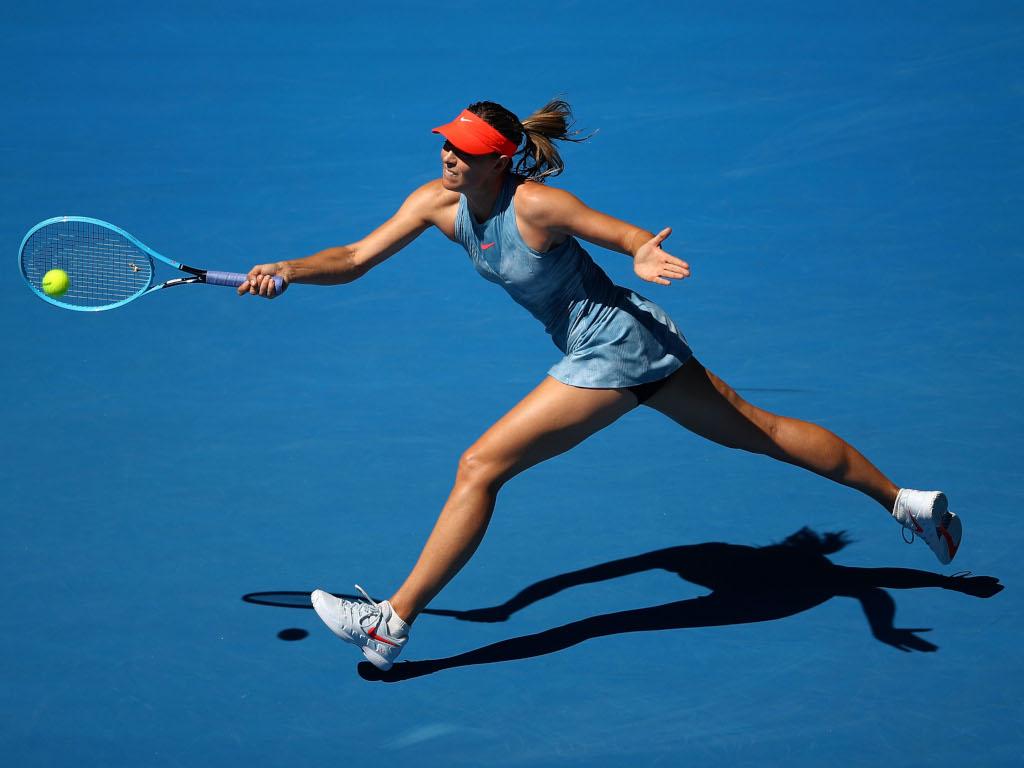 Maria Sharapova in action