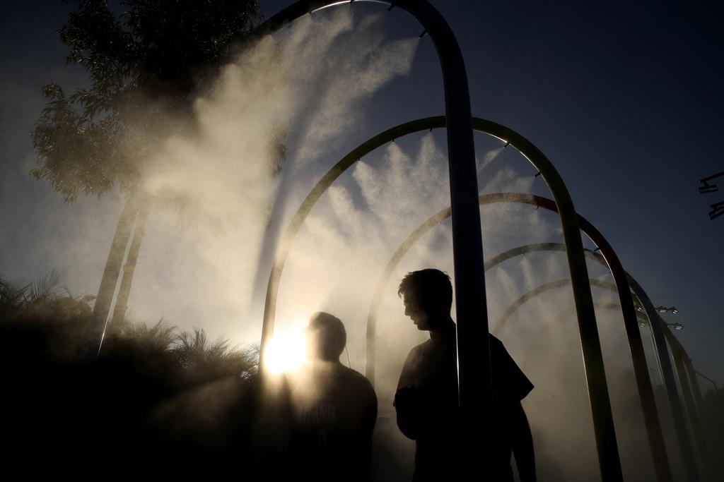 Australian Open sprinklers