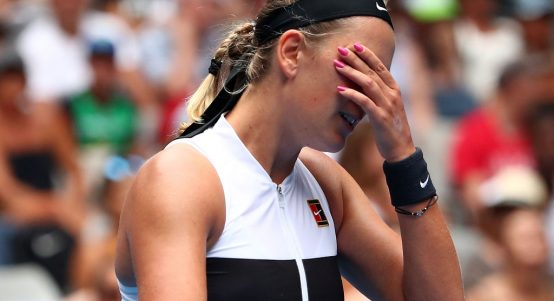 "Victoria Azarenka admitted she is ""struggling"""